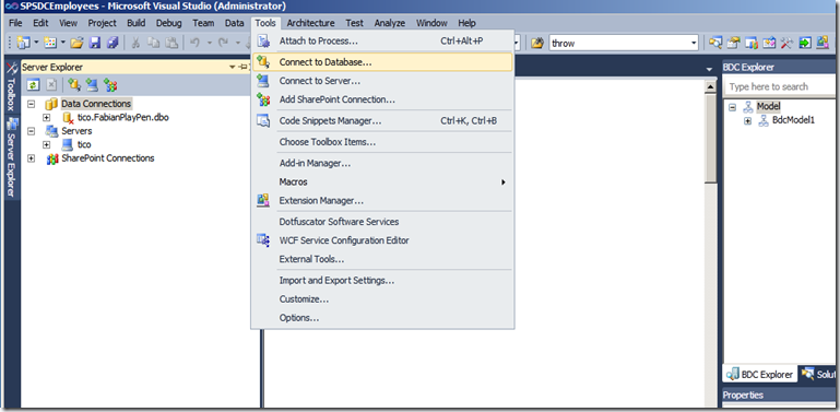 Creating a SharePoint 2010 External Content Type with CRUD Methods using LINQ and a SQL LOB System (5/6)