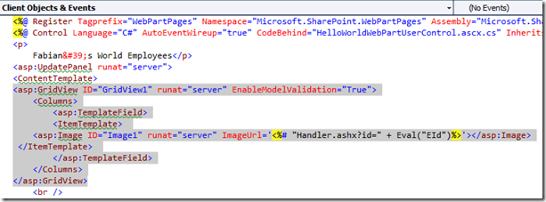 How To: Use SharePoint 2010 WebParts with a GridView Control to get SQL Image Data type and other Values (5/6)