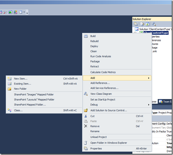 How To: Create Content Types with Site Columns in Code Visual Studio 2010 for SharePoint 2010 (3/6)