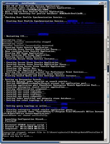 AutoSPInstallerOutPutWindow2