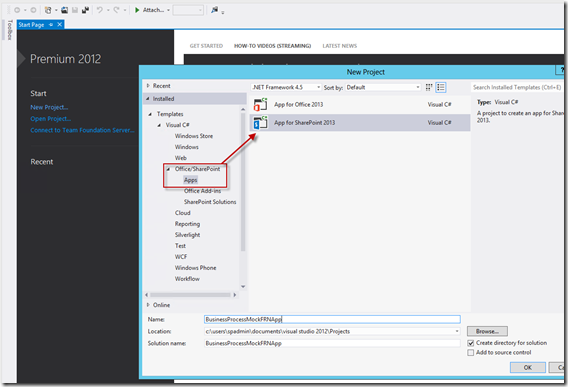 How To: Create SharePoint 2013 Workflow App-Site Columns to Fully Deployed App using Visual Studio 2012 (1/6)