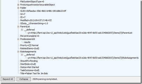 More on SharePoint 2013 REST API with Fiddler and SPD (6/6)